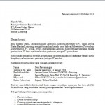 Contoh Surat Lamaran Kerja berdasarkan Informasi Staf Perusahaan