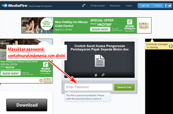 cara-download-contoh-surat-mediafire