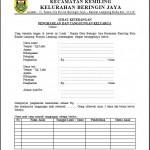 Contoh Surat Keterangan Penghasilan dan Tanggungan Keluarga dari Kelurahan