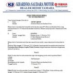 Contoh Surat Perjanjian Kerja Karyawan (Staf Sparepart)