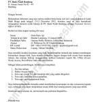 Contoh Surat Lamaran Kerja di Bank berdasarkan bursa kerja (job fair)