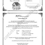 suami contoh undangan rapat panitia pernikahan contoh surat undangan