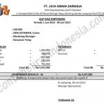 Contoh Slip Gaji Karyawan Swasta Resmi format Ms. Excel