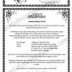 Contoh Undangan Rapat Panitia Pernikahan
