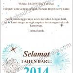 Contoh Surat Undangan Perayaan Tahun Baru 2014