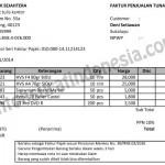 Contoh Faktur Penjualan Tunai dalam Format Excel