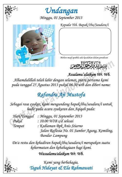 contoh undangan aqiqah simpel