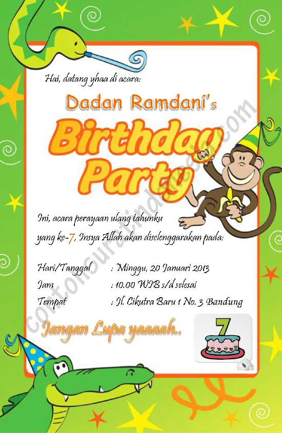 contoh undangan ulang tahun anak
