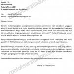 Contoh Surat Permohonan Maaf Gangguan Air Gedung