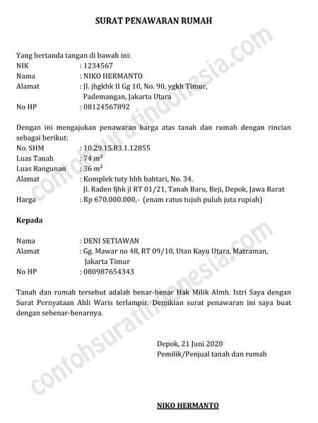 Contoh-Surat-Penawaran-Rumah-KPR